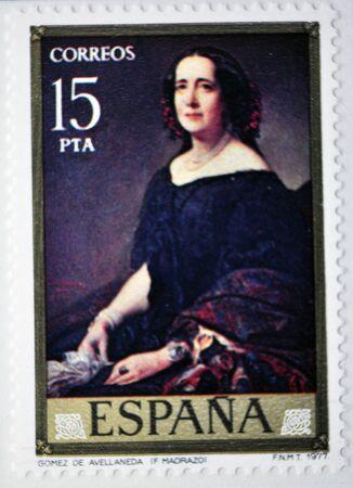 gomez: G. Gomez de Avellaneda, postage stamp, Spain 1977