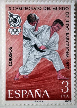 world championship: X Judo World Championship, postage stamp, Spain 1977