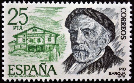 Pio Baroja, postage stamp, Spain, 1977