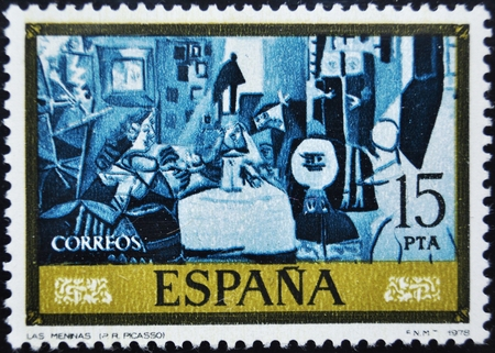 picasso: Pablo Picasso, The Meninas, postage stamp