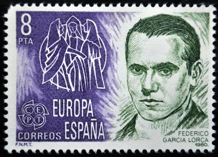 Federico Garcia Lorca, postage stamp, Spain 1980