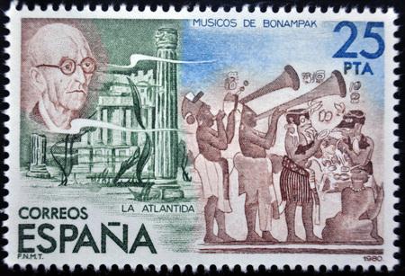 postage: Manuel de Falla, postage stamp, Spain, 1980 Editorial