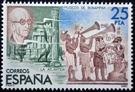 sello postal: Manuel de Falla, sello postal, España, 1980 Editorial