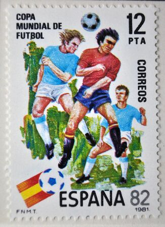 soccer world cup: 1982 World Cup soccer postage stamp, Spain 1981 Editorial