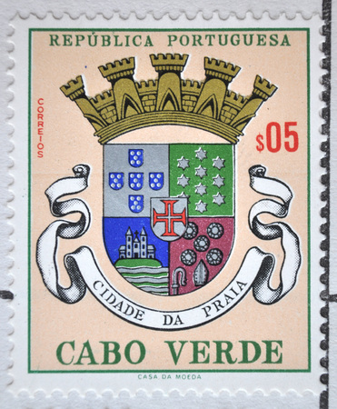 postage stamp: Portuguese Republic, Cape Verde, postage stamp Editorial