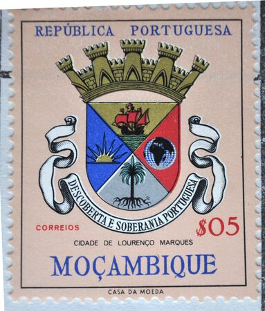 postage: postage stamp, Portuguese Republic, Mozambique Editorial
