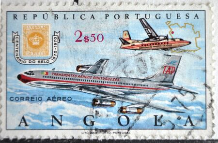 postage: postage stamp, Portuguese Republic, Angola Editorial