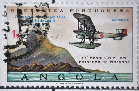 postage: Portuguese Republic, postage stamp, Angola Editorial