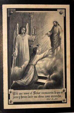 pious stamp, Spain ca 1900