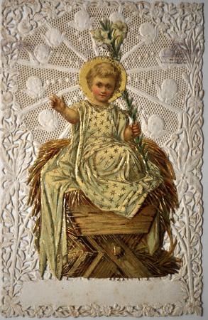 timbre pieux. Espagne, ca 1920, l'enfant Jésus Éditoriale