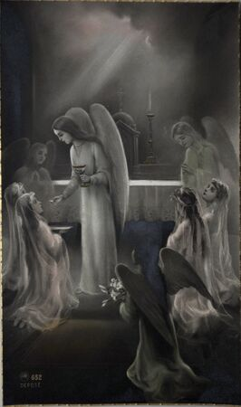 pious stamp, Paris ca. 1920, First Communion