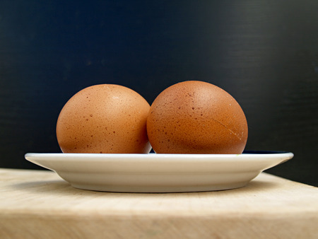 un healthy: two eggs on a plate