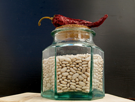un healthy: red pepper and beans pot Stock Photo