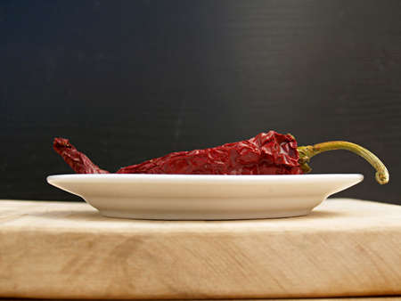 un healthy: red dryed pepper