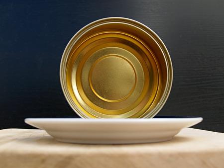 tin: empty tin canned