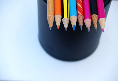pencil holder: pencils on a pencil holder