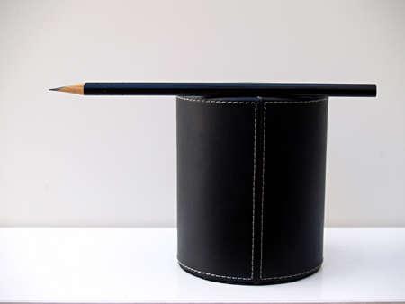 business metaphore: direction indicator pencil Stock Photo