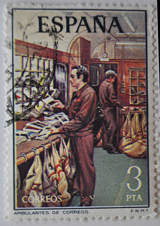 postage stamp, Spain Postal Service, 1973 3PTA