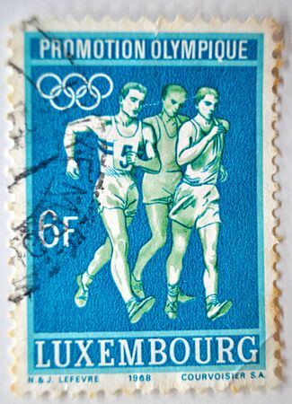 postage: postage stamp, Luxemburg, 1968, 6f