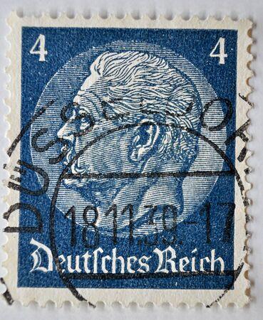 postage stamp, German Empire, Hindenburg 4