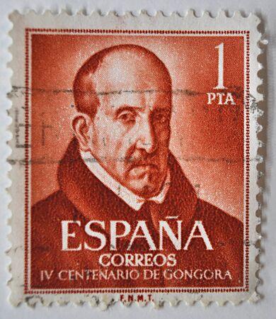 sello postal: Sello postal, Luis de G�ngora, Espa�a 1961 Editorial