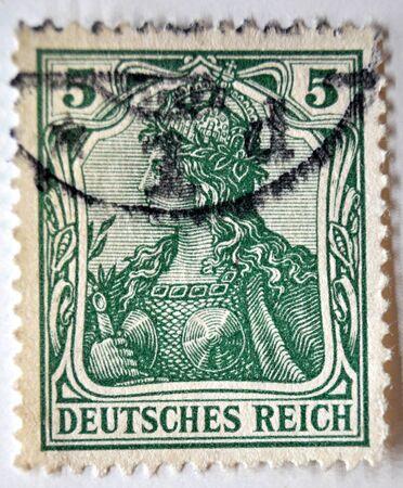 sello postal: sello de correos, Imperio Alem�n,