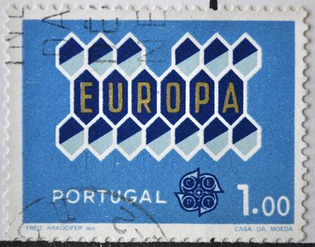 postage stamp: sello de correos, Portugal, 1962 Editorial