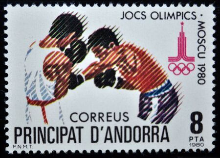 postage: postage stamp, Andorra, 1980