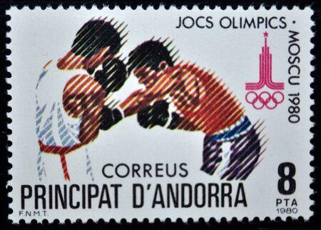 sello postal: sello de correos, Andorra, 1980