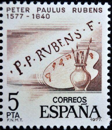 paulus: postage stamp, Rubens, Spain, 1977
