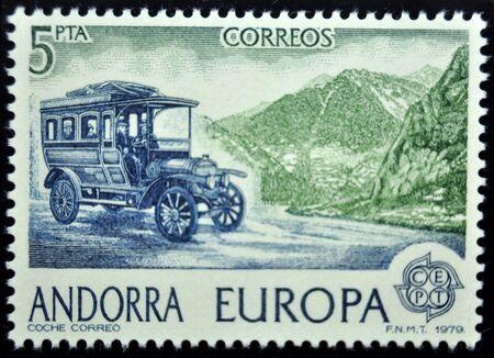 postage: postage stamp, Andorra, 1979