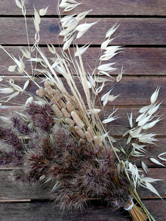 bouquet of dried grasses