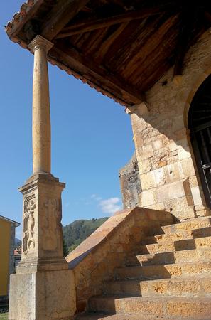 medieval hermitage in Asturias, Spain