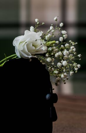 white lisianthus flower on abstracta bouquet
