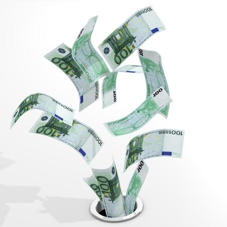 Euro to drain Stock Photo