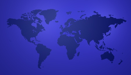 Blue map of the world Stock Photo - 8604392