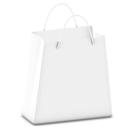 White shopping bag - computer render Stock Photo