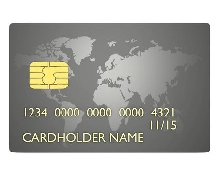 Credit card with map world Stock Photo - 9191384