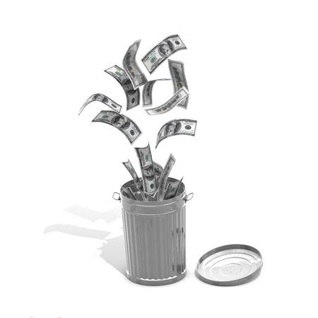 Moneytrash concept - computer render