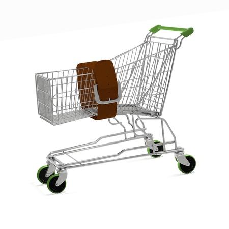 Shopping crisis concept - computer render