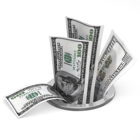 Dollars om uit te lekken - crisis begrip Stockfoto