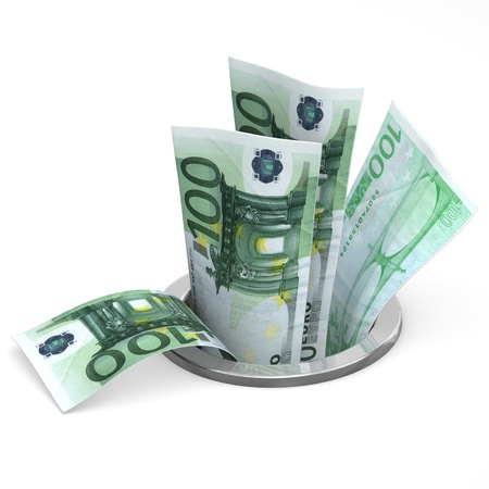 worthless: Euro to drain - crisis concept
