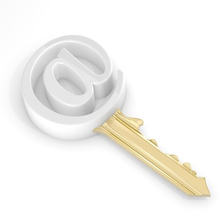 Email key - secure data