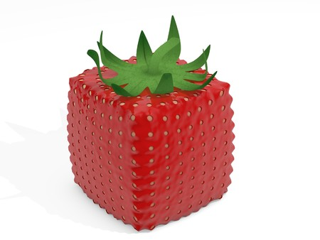 Cube strawberry photo