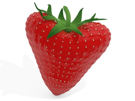 Heart strawberry photo
