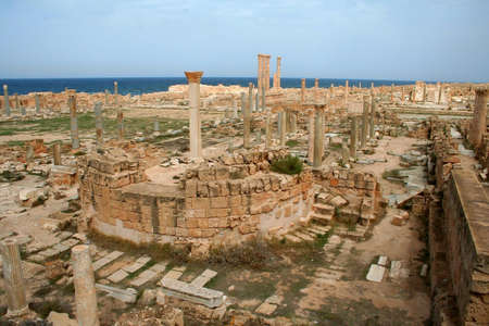 Ruins of Sabratha, Libya Stock Photo