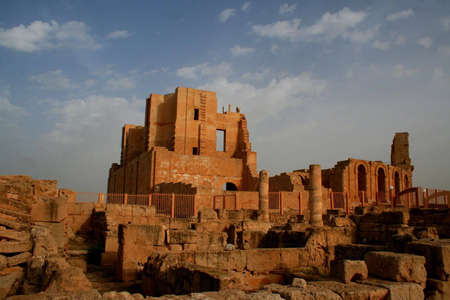 teatro antico: Teatro antico di Sabratha, Libia  Archivio Fotografico
