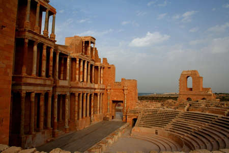 Ancient theatre of Sabratha, libya, at late afternoon