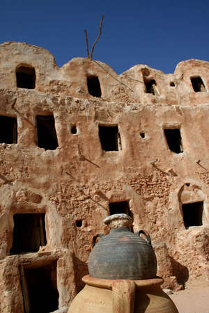 The Berber Castle for oil and grain storage, Qasr el-Hadj, Libya photo