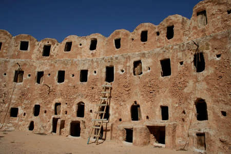 berber: The Berber Castle for oil and grain storage, Qasr el-Hadj, Libya Stock Photo